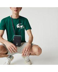 Lacoste Roland Garros Adjustable Strap Mini Zip Flat Bag - One Size - Green