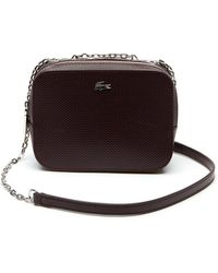 4b018b5add0c Lacoste - Chantaco Christmas Square Piqué Leather Shoulder Bag - Lyst