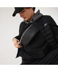 Lacoste Chantaco Soft Leather Bum Bag - Black