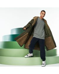 Lacoste Fashion Show Reversible Gabardine And Technical Canvas Coat - Green