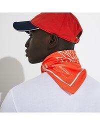 Lacoste Sport Roland Garros Edition Print Cotton Bandana - One Size - Red