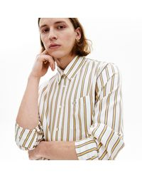Lacoste Lightweight Striped Shirt - 171⁄2 - 44 - White
