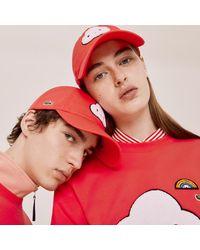 Lacoste Unisex X Friendswithyou Cotton Print Cap - Red