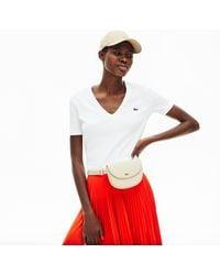 Lacoste Women's Chantaco Leather Belt Bag - Natural
