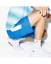 Lacoste Sport Lightweight Tennis Shorts - L - 5 - Blue