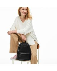 Lacoste - L.12.12 Leather Backpack - Lyst