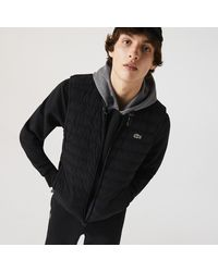 Lacoste Lightweight Foldable Water-resistant Puffer Coat - Black