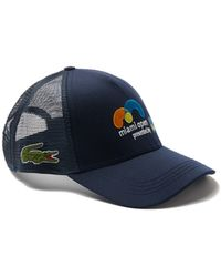1126838f9a3 Lacoste - Unisex Sport Miami Open Gabardine And Mesh Tennis Cap - Lyst