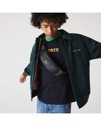 Lacoste Lcst Coated Canvas Zippered Belt Bag - Multicolour