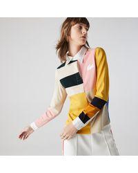 Lacoste L!ive Lacoste Women's Live Colorblock Rugby Polo Shirt - 40 - Multicolor
