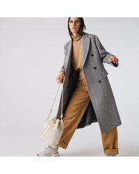 Lacoste Chantaco Matte Piqué Leather Drawstring Bucket Bag - Multicolour