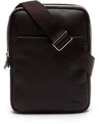 Lacoste - Gaël Small Flat Zip Bag - Lyst