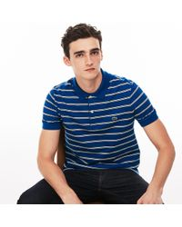 Lacoste - Regular Fit Striped Piqué Polo - Lyst
