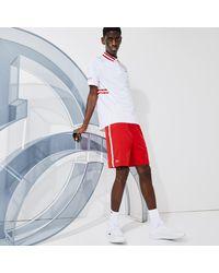 Lacoste Men's Sport X Novak Djokovic Breathable Stretch Shorts - S - 3 - Red