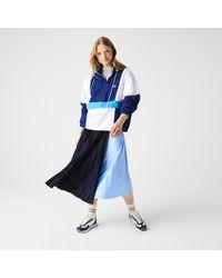 Lacoste Women's Mid-length Colourblock Pleated Skirt - Blue