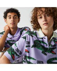 Lacoste L!ive Lacoste Unisex Live Chinatown Market Collaboration Loose Fit Polo Shirt - Xs - Multicolor