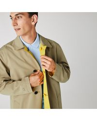 Lacoste Lightweight Water-resistant Reversible Twill Coat - 62 - 2xl - Multicolor