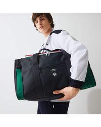 Lacoste Roland Garros Two-tone Nylon Zippered Sports Bag - One Size - Blue