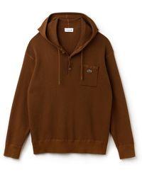 Lacoste - Honeycomb Knit Sweatshirt - Lyst