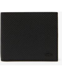 e598a5a99c1 Lyst - Lacoste Chantaco Piqué Leather Wallet And Card Holder Set in ...