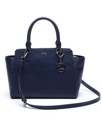 Lacoste - Daily Classic Gusseted Coated Piqué Canvas Tote Bag - Lyst
