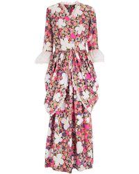 La Double J - Maxi Frill Dress 1970s Pink - Lyst