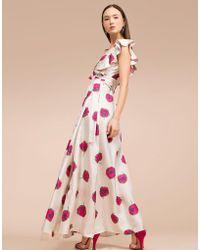 La Double J - Wedding Guest Dress Papaveri In Silk - Lyst