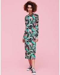 La Double J - Tinder Dress Windy Flowers In Sable - Lyst