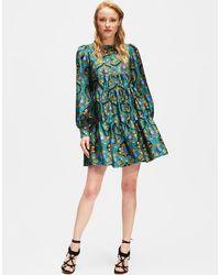 La Double J - Peasant Dress Ananas In Silk - Lyst