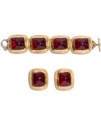 Anne Klein Bracelet And Earring Set - Multicolour