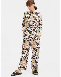 La Double J Benzinaio Jumpsuit Tom Tom In Stretch Cotton - Multicolor