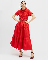 LaDoubleJ Long And Sassy Dress - Red