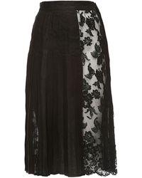 La Double J - Barocco Plisse Skirt - Lyst
