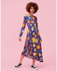 La Double J - Pina Dress Dandelion Blu In Crepe Jersey - Lyst