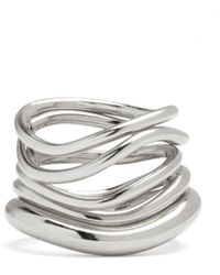 Lady Grey - Wave Ring Set In Silver - Lyst