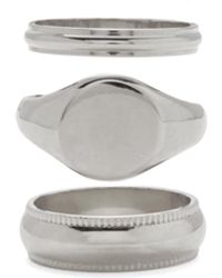 Lady Grey Signature Ring Set In Rhodium - Multicolor
