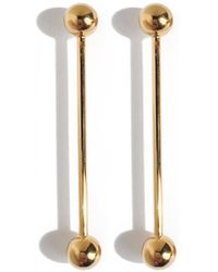 Lady Grey - Barbell Earrings In Gold - Lyst