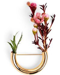 Lady Grey Botanical Brooch- Gold Composition 2 - Multicolor