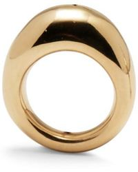 Lady Grey Organic Ring In Gold - Metallic