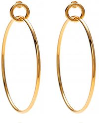 Lady Grey | Link Hoops In Gold | Lyst