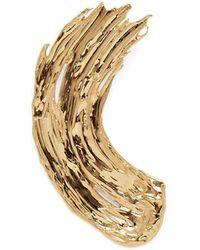 Lady Grey Eva Brooch In Gold - Metallic