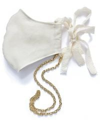 Lady Grey Link Mask Chain In Gold - Metallic