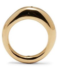 Lady Grey Thin Organic Ring In Gold - Metallic