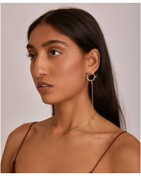 Lady Grey - The Earring Necklace In Gold - Lyst