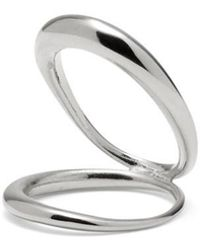 Lady Grey - Echo Ring In Rhodium - Lyst