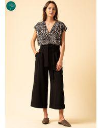 La Fee Maraboutee Pantalon large 7/8ème polyester recyclé - Noir