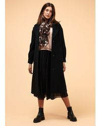 La Fee Maraboutee Manteau noir coupe ample en laine mélangée