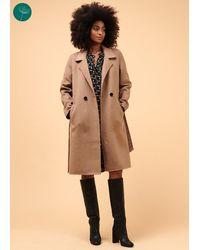 La Fee Maraboutee Manteau chaud et léger en laine et polyester recyclés - Multicolore