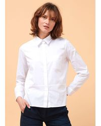 La Fee Maraboutee Chemise en popeline de coton Blanc