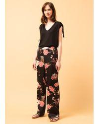 La Fee Maraboutee Pantalon large fluide Kimono print - Multicolore